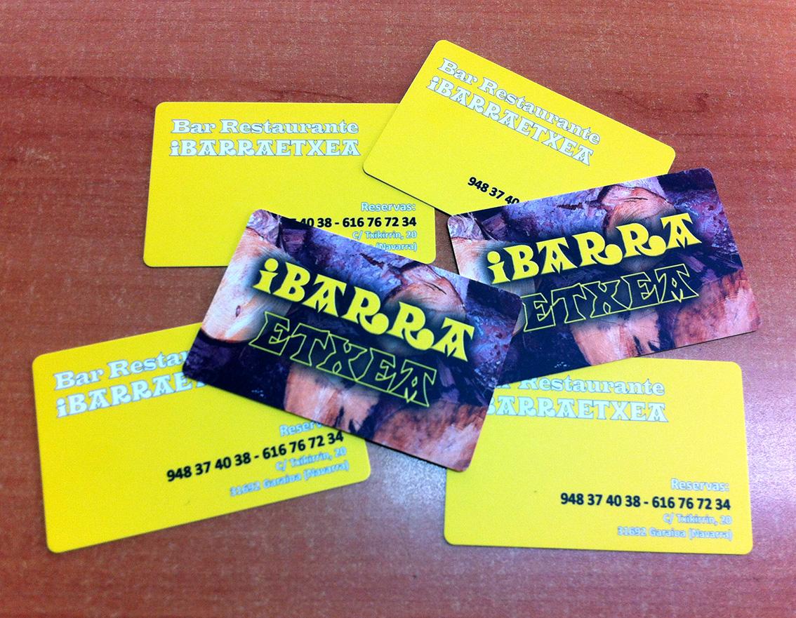 impresión de tarjetas de visita en pamplona