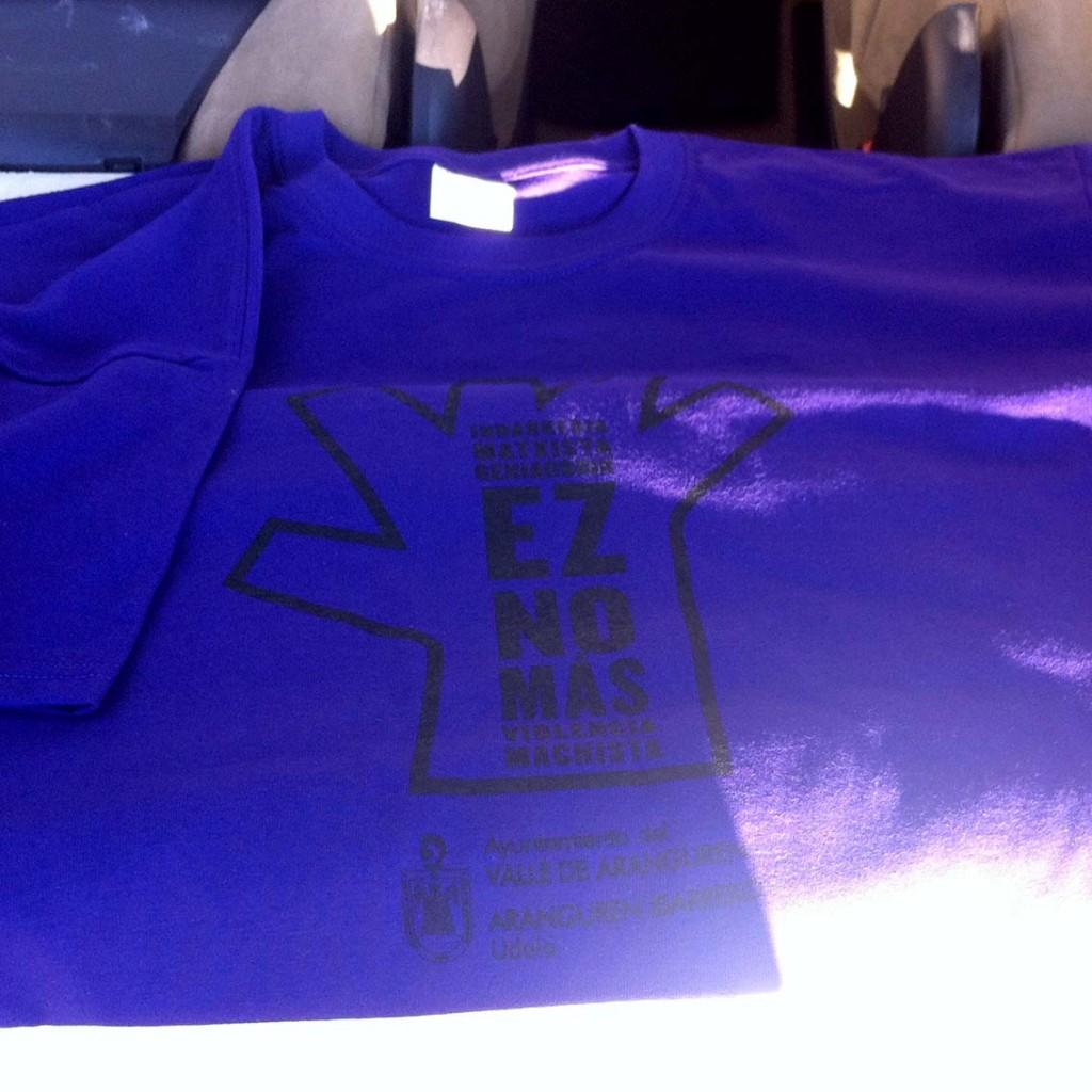 Serigrafia camisetas no mas violencia