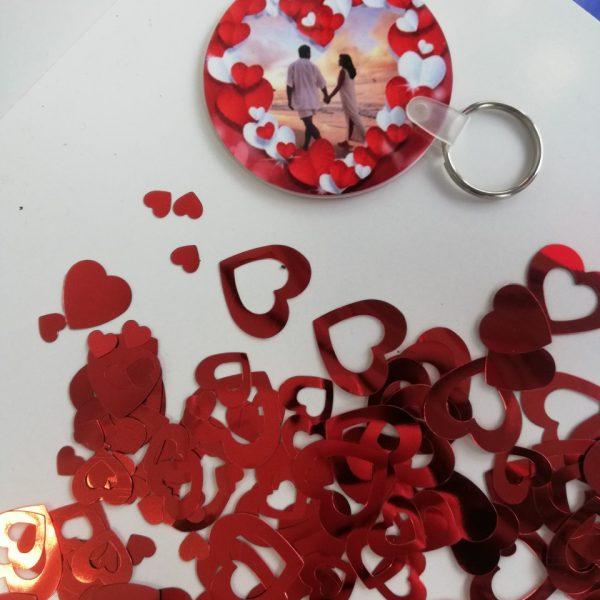 llavero personalizado san Valentin