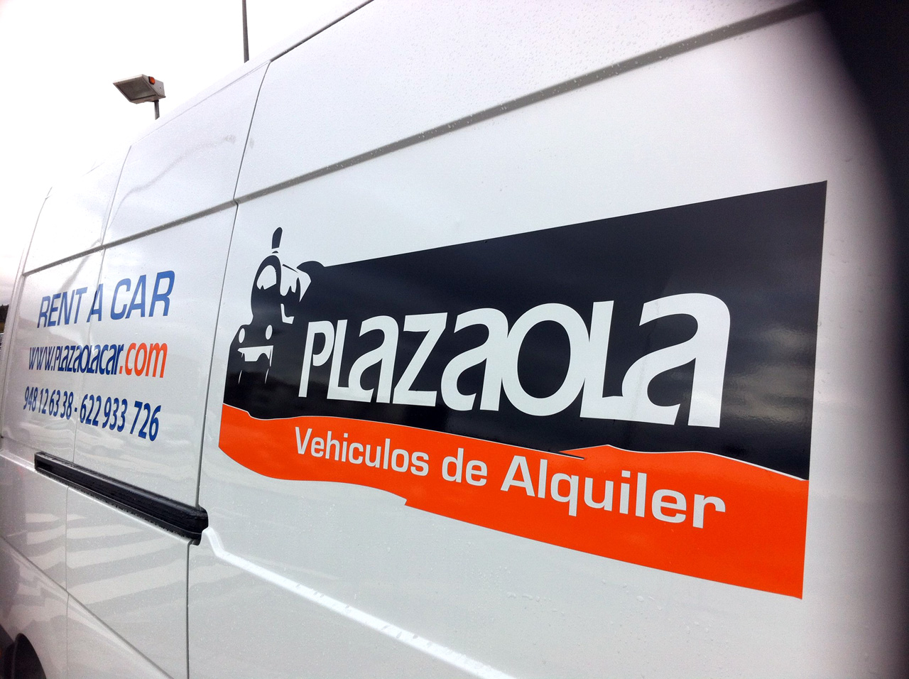 Rotulacion furgoneta plazaolacar gecona