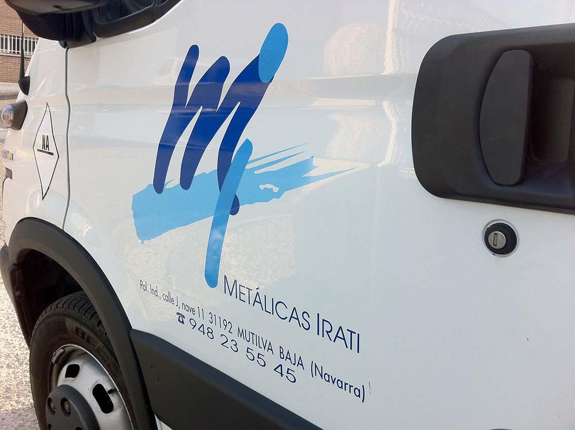 rotulacion furgoneta pamplona