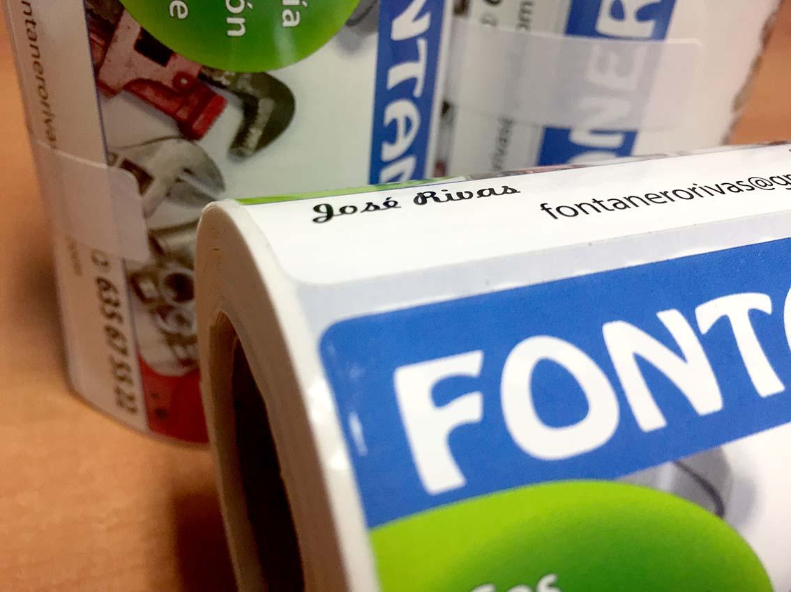 etiquetas en rollo personalizadas