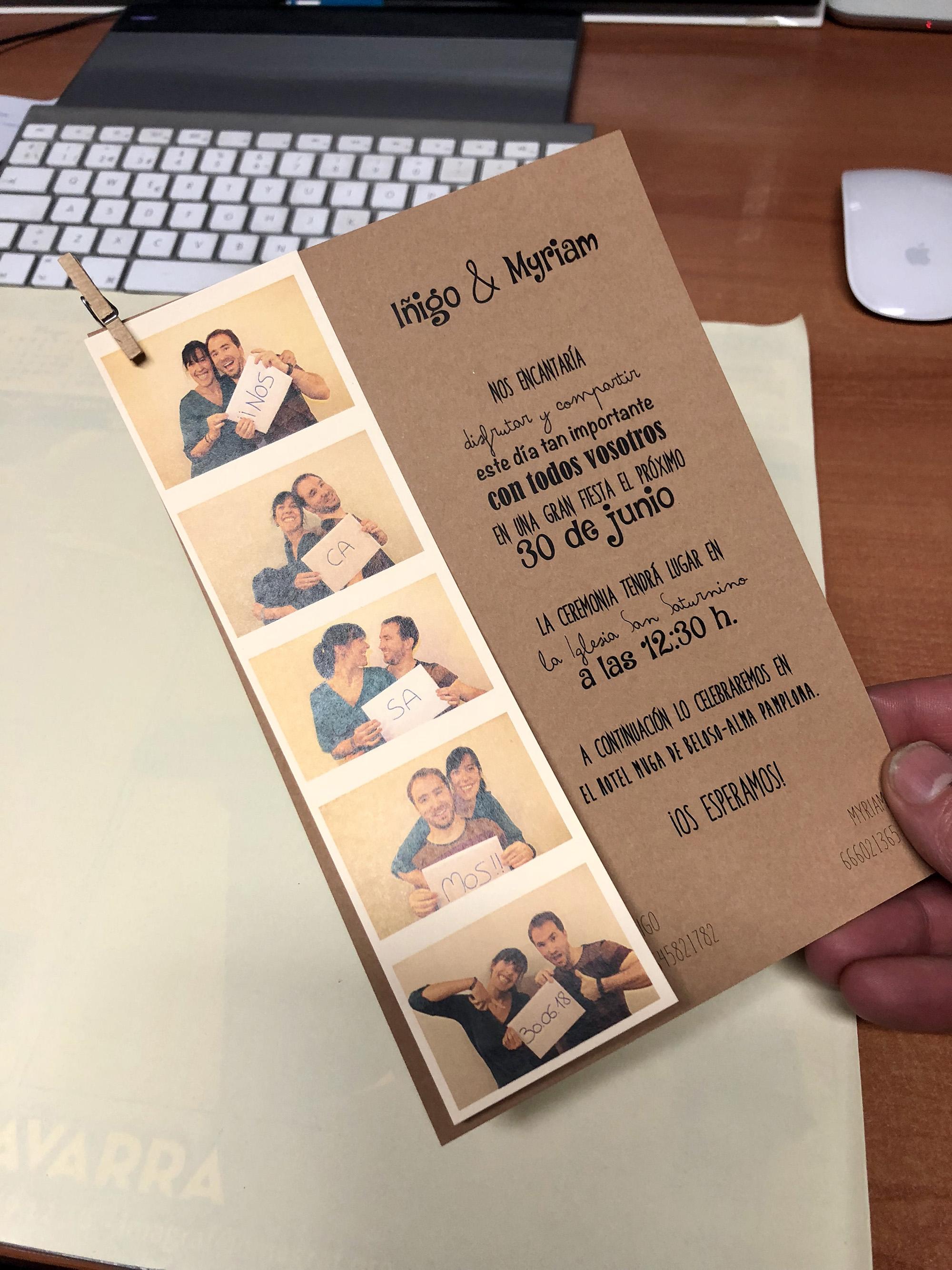 invitaciones boda originales pamplona